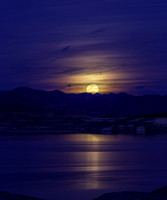 Super Moon over Lake Mead 1-2018
